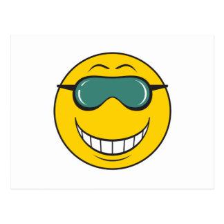 Cood Dude Smiley Face Postcard
