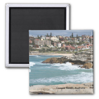 Coogee Beach, Australia 2 Inch Square Magnet