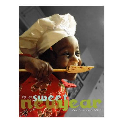 Cook a Sweet New Year Photo Postcard