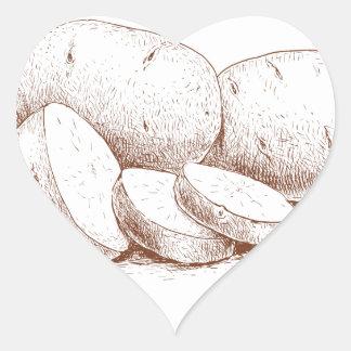 Cook a Sweet Potato Day - Appreciation Day Heart Sticker