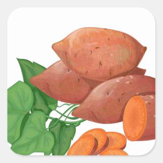 Cook a Sweet Potato Day - Appreciation Day Square Sticker
