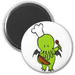 Cook Along With Cthulhu Refrigerator Magnets