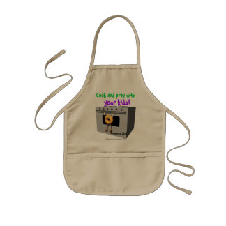 Cook and Pray with you kids Christian Kids' Apron