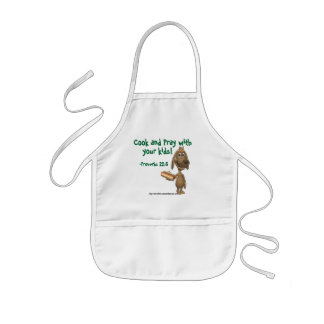 Cook and pray with your kids Christian Kids' Apron