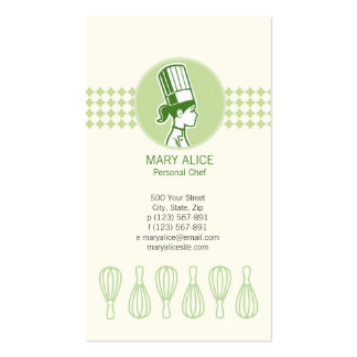 Cook Baker Businesscard Business Card Templates