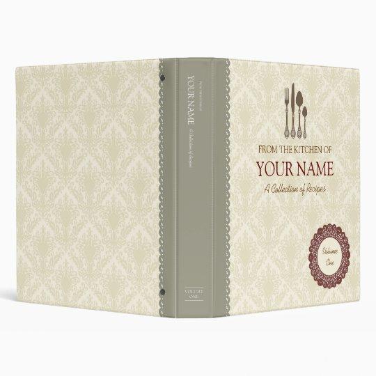 Cook book lace binder
