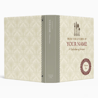 Cook book lace binders