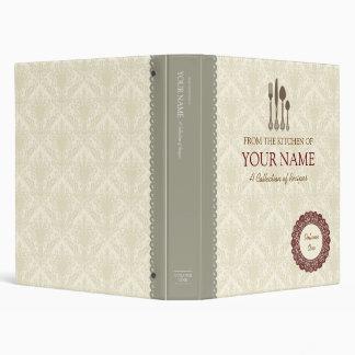 Cook book lace vinyl binders