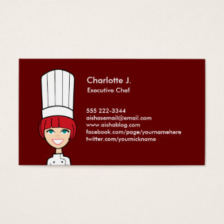 Cook Business Card - Redhead Version