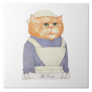 "Cook Cat 6"" x 6"" Ceramic Tile"