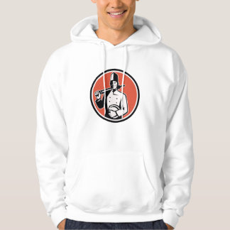 Cook Chef Baker With Roller Retro Hooded Sweatshirts