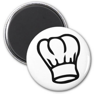 cook chef hat icon 2 inch round magnet