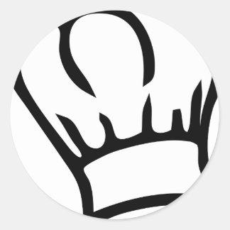 cook chef hat icon classic round sticker