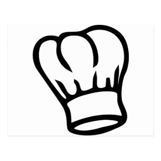 cook chef hat icon postcard