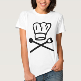cook chef hat with wooden spoon icon tee shirt