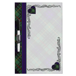 Cook clan Plaid Scottish kilt tartan Dry-Erase Board