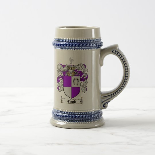 Cook Coat of Arms Stein / Cook Family Crest Stein