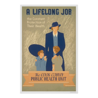 Cook County Public Health 1938 WPA Poster