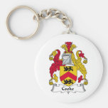 Cook Family Crest Basic Round Button Keychain