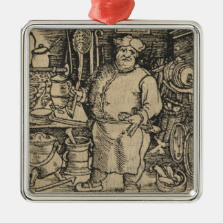 Cook from Ein new Kochbuch Metal Ornament
