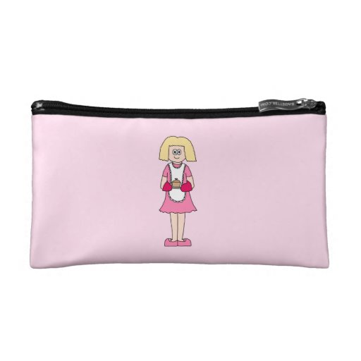 Cook in Pink and White. Makeup Bag