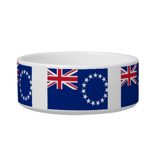 Cook Island Flag Cat Water Bowl