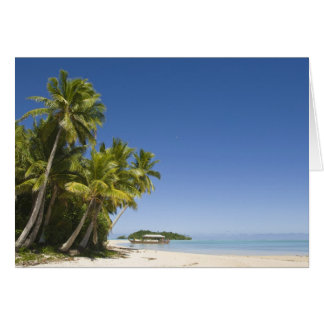 Cook Islands, Aitutaki. Polynesian canoe tour to Card