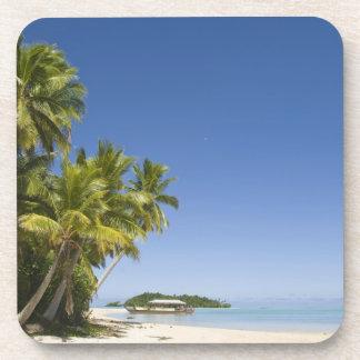 Cook Islands, Aitutaki. Polynesian canoe tour to Drink Coaster