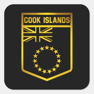 Cook Islands Emblem Square Sticker