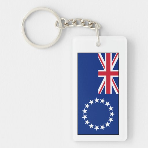 Cook Islands Flag Acrylic Key Chain