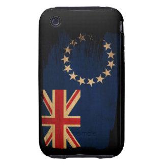 Cook Islands Flag Tough iPhone 3 Case