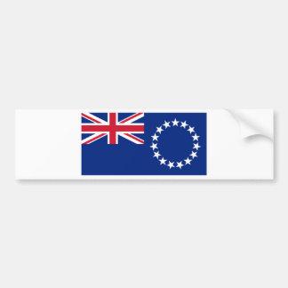 Cook Islands Flag CK Bumper Sticker