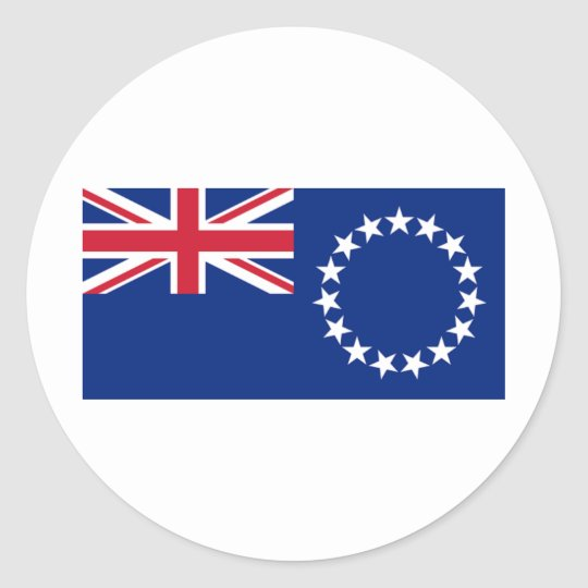 Cook Islands Flag CK Classic Round Sticker