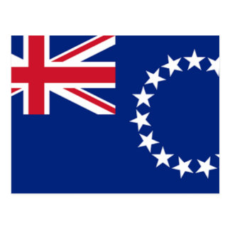 Cook Islands Flag CK Postcard