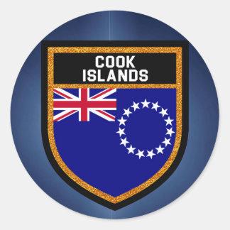Cook Islands Flag Classic Round Sticker