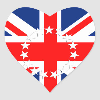Cook Islands Flag Heart Sticker