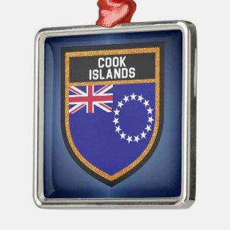 Cook Islands Flag Metal Ornament