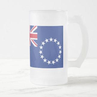 Cook Islands Flag 16 Oz Frosted Glass Beer Mug