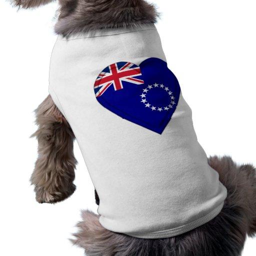 Cook Islands flag Pet Tee Shirt