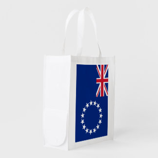 Cook Islands Flag Reusable Grocery Bag
