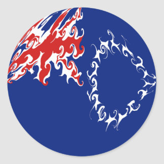 Cook Islands Gnarly Flag Classic Round Sticker