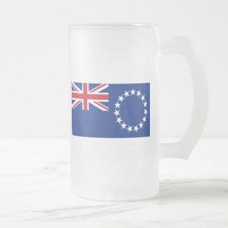 cook islands 16 oz frosted glass beer mug