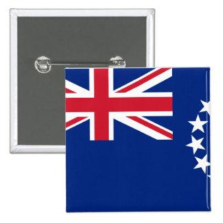 Cook Islands, New Zealand flag Button
