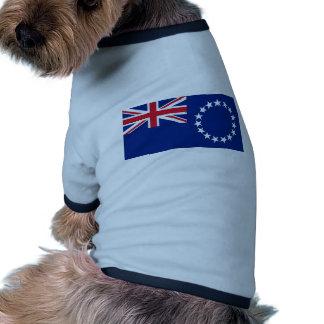 Cook Islands, New Zealand flag Pet Tee