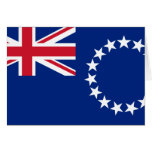 Cook Islands, New Zealand flag Greeting Card