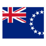 Cook Islands, New Zealand flag Post Cards