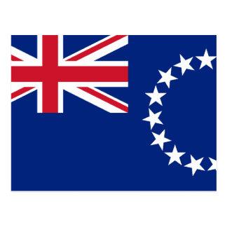 Cook Islands, New Zealand flag Postcard