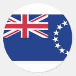 Cook Islands, New Zealand flag Round Sticker