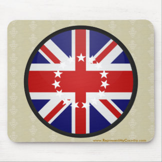 Cook Islands quality Flag Circle Mousepads