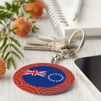 Cook Islands round flag Basic Round Button Keychain